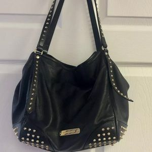 Burberry Leather Studded Canterbury Tote